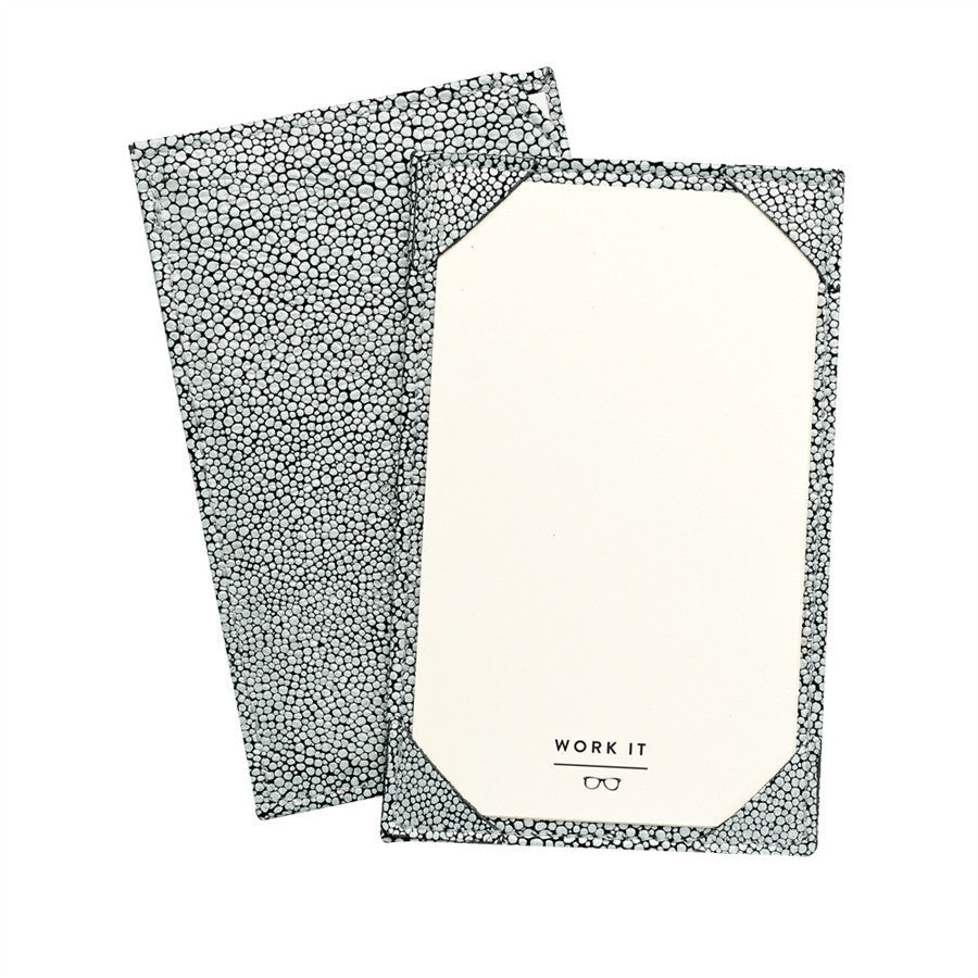 Whitestone Shagreen Leather Jotter - GDH | The decorators department Store