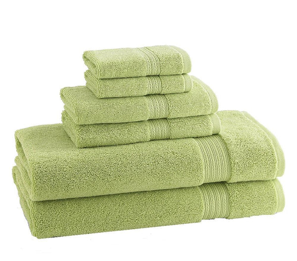 CLASSIC EGYPTIAN TOWELS | Set of 6 | Kiwi