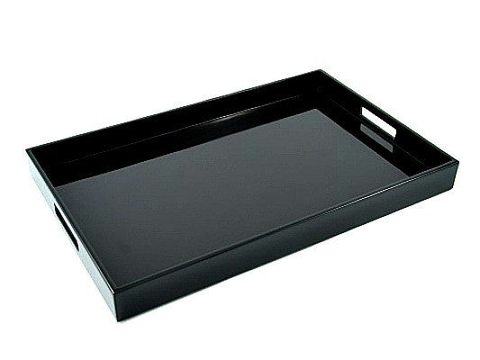 Black Lacquer Breakfast Tray  14 x 22 - GDH | The decorators department Store