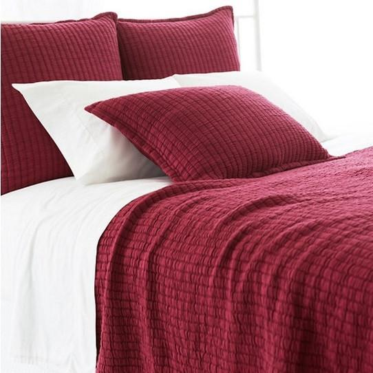 Boyfriend Matelasse Coverlet | Garnet - GDH | The decorators department Store