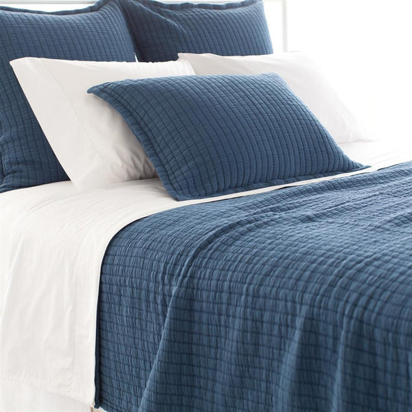 Boyfriend Matelasse Coverlet | Marine - GDH | The decorators department Store