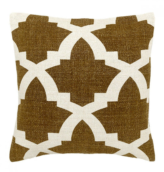 Bali In Camel Decorative Pillow, Large - babeonbroadway