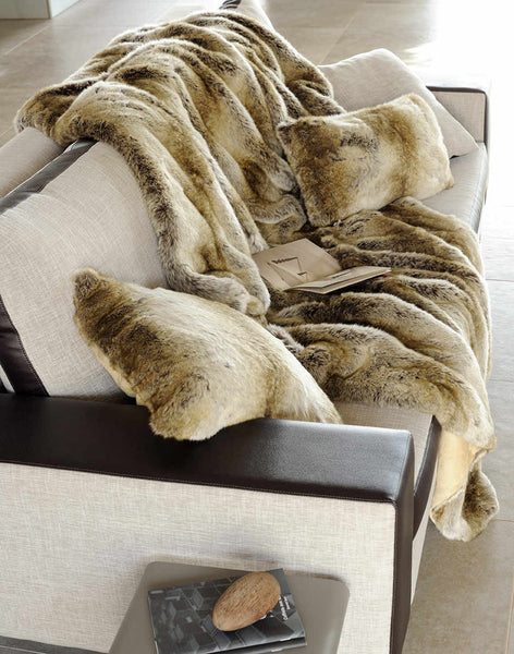 Faux Fur Bed Coverlet | Monaco