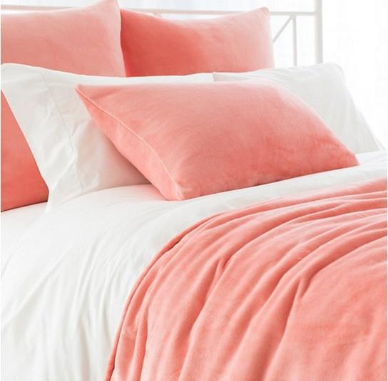 Fleece Blanket | Coral - GDH | The decorators department Store