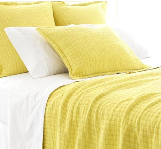 Boyfriend Matelasse Coverlet | Citrus - GDH | The decorators department Store