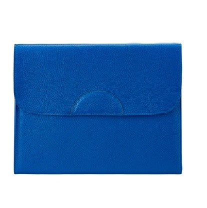 Portfolio Case Scotch Grain Pebble Leather | Cobalt - GDH | The decorators department Store
