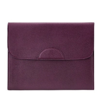 Portfolio Case Scotch Grain Pebble Leather | Wine - GDH | The decorators department Store