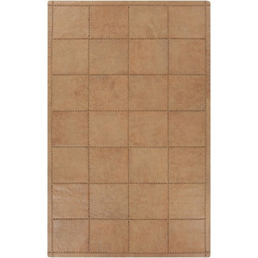 Saddle Leather Rug | Taupe/Tan - GDH | The decorators department Store