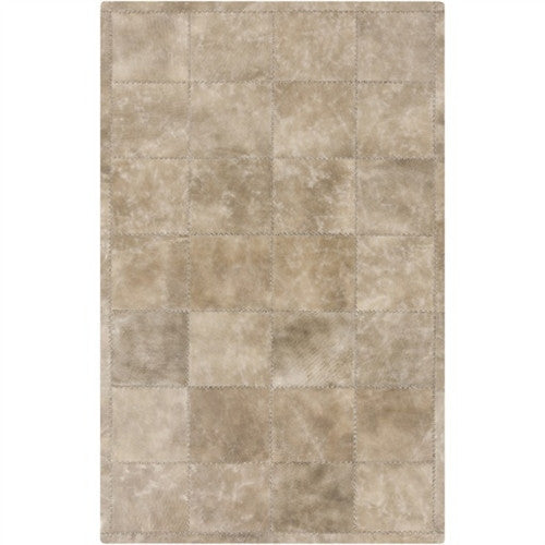 Saddle Leather Rug | Taupe/Light Gray - GDH | The decorators department Store
