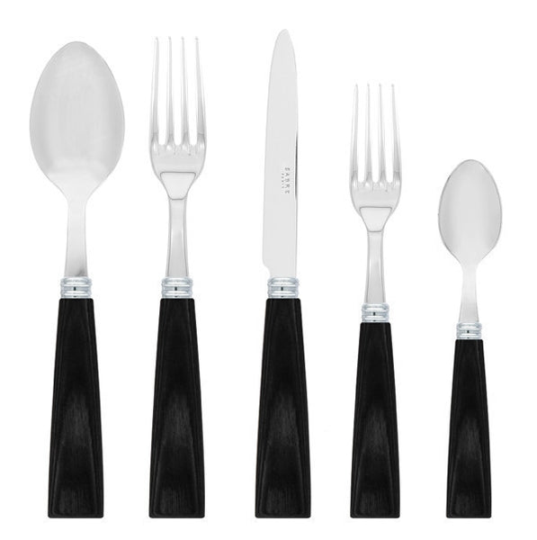 Sabre Nature 5 Piece Place Setting | Black - CITY LIFE CATALOG