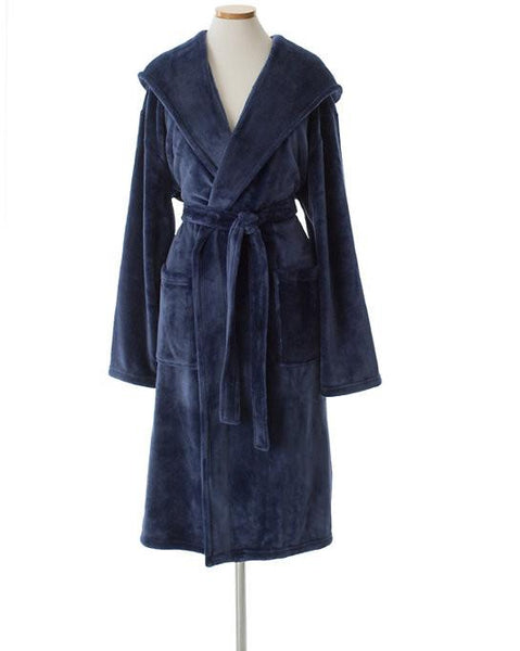 Copy of Selke Fleece Indigo Hooded Robe - GDH | The decorators department Store
