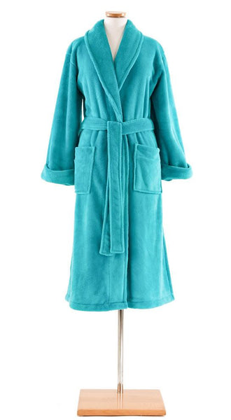 Sheepy Fleece Robe by Pine Cone Hll | Aqua