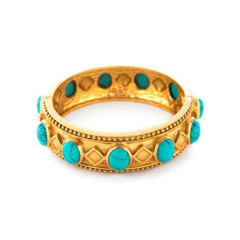 Siena Hinge Bangle | Turquoise