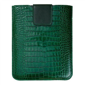 Universal iPad Sleeve - Crocodile Embossed Leather - GDH | The decorators department Store