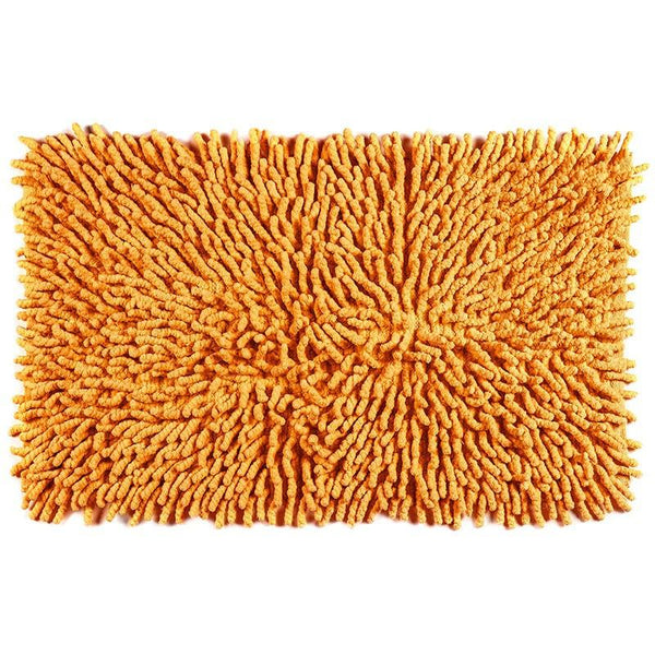 Cotton Chenille Bath Rugs | Orange