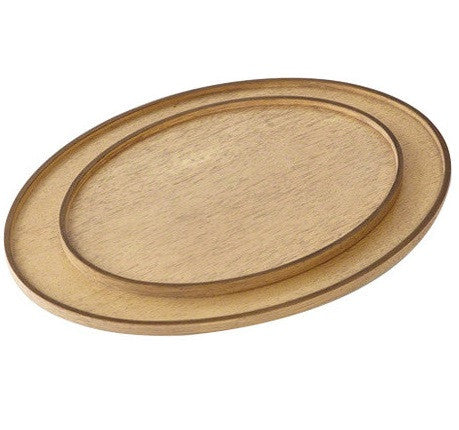 Elegant Oval Drinks Trays in Bleached Walnut S/2 - GDH | The decorators department Store