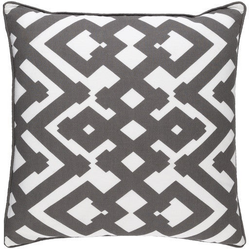 Grey Zig Zag Pillow - GDH | The decorators department Store - 1