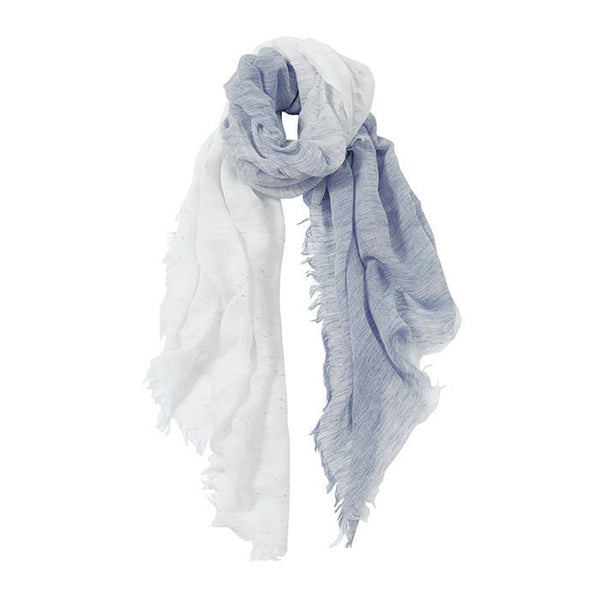 AVvOLTO Blue to White Ombre Italian Scarf - babeonbroadway