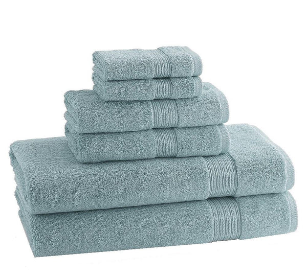 CLASSIC EGYPTIAN TOWELS | Set of 6 | Robin's Egg Blue