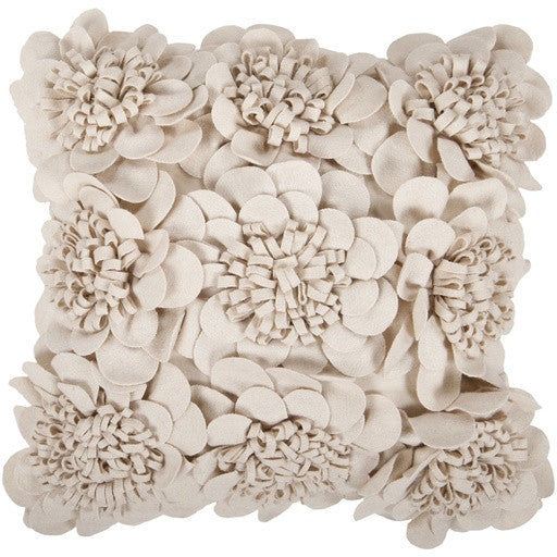 Felt garden Pillow | White - GDH | The decorators department Store