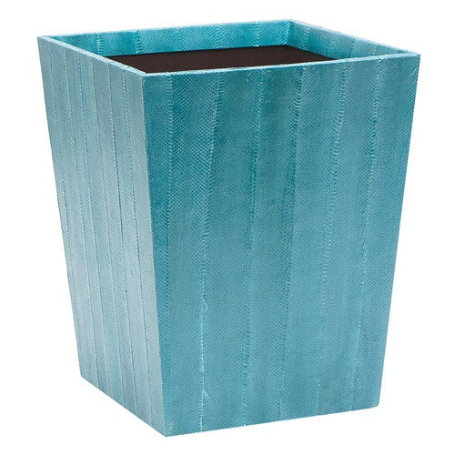 Zanzibar Wastebasket | Turquoise - GDH | The decorators department Store