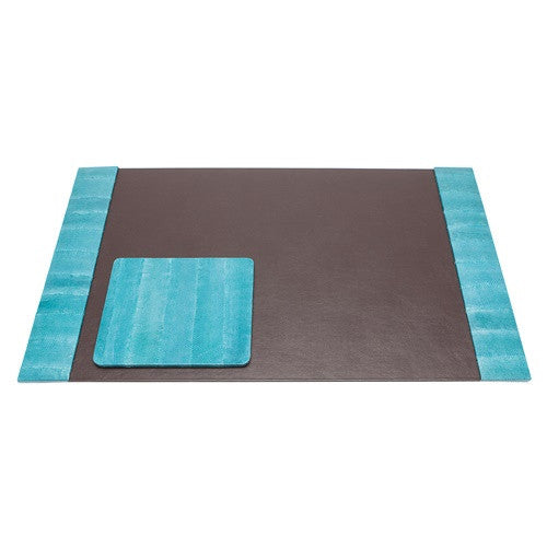 Zanzibar Desk Blotter Set |Turquoise - GDH | The decorators department Store