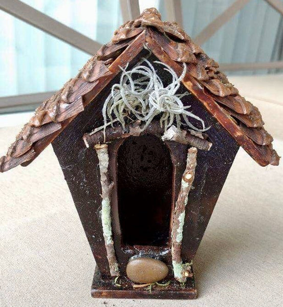 Fairy House with Pine Cone Roof