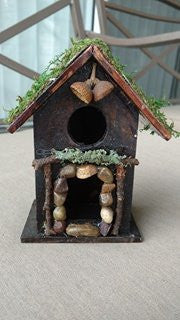 Fairy House with Moss Covered Roof