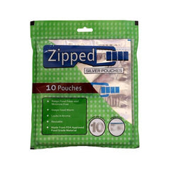 Zipped Silver Pouches 10 pcs pack