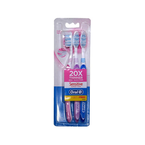 Oral -B Sensitive Super Thin Toothbrush Buy 2 Get 1 Free