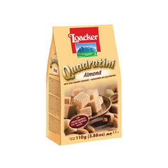 Loacker Quadratini Almond Wafer Cookies 110 Gm