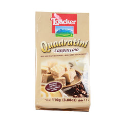 Loacker Quadratini Cappuccino Wafer Cookies 110 Gm