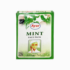 Ayur Herbal Mint Face Pack - BazaarCart Best Online Grocery Store