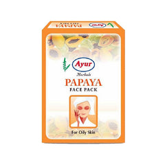 Ayur Herbal Papaya Face Pack - BazaarCart Best Online Grocery Store
