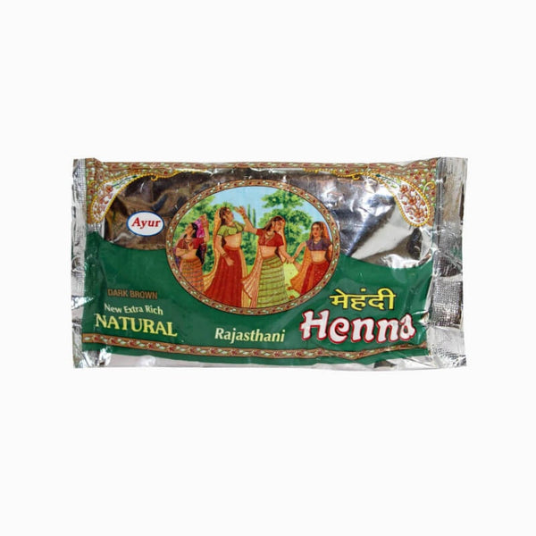 Ayur Herbal Rajasthani Dark Brown Henna - BazaarCart Best Online Grocery Store