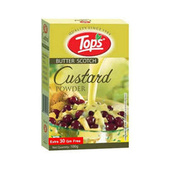 Tops Butter Scotch Custard Powder Extra 30 Gm Free
