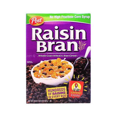 Post Raisin Hol Grain Wheat&Bran Cereal Oats