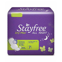 Stayfree Dry Max All Night Ultra Dry Xl With Wings