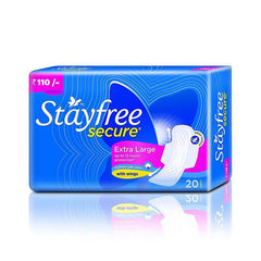 Stayfree Secure XL Cottony Soft Cover with wings