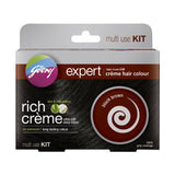 Godrej black brown 3 rich creme hair color multi use kit