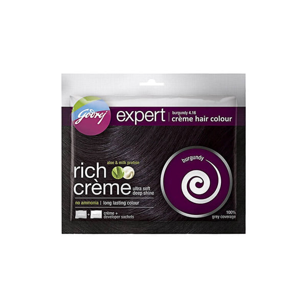 Godrej Expert rich Cream Hair Colour Burgundy 4.16 Aloe & Milk Protein