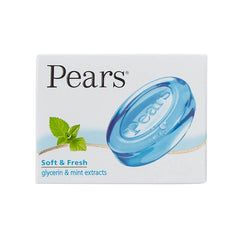 Pears Soft & Fresh Glycerin& Mint Extracts Soap Buy 4 Get 1 Free 4 x 125 Gm