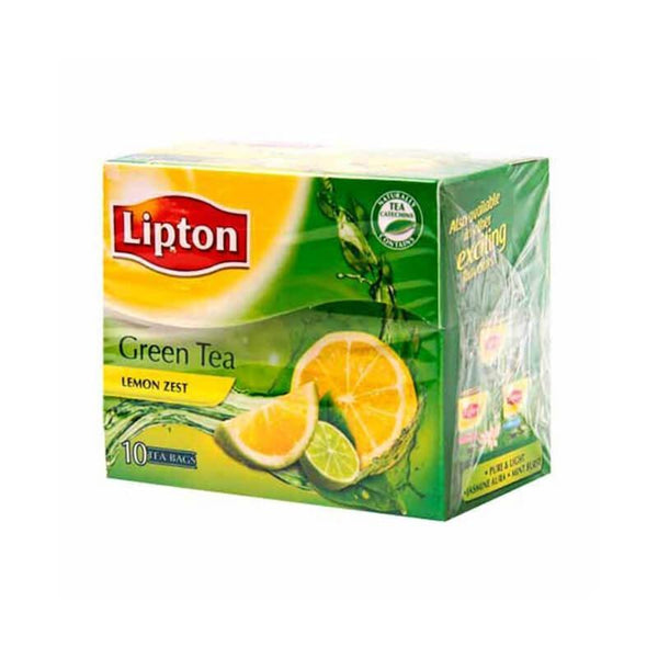 Lipton Lemon Zest Flavoured Green Tea 10 Bags