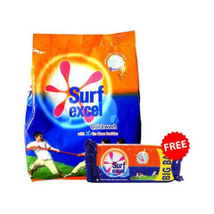 Surf Excel Quick Wash Detergent Powder With Free Surf Excel Bar 150 Gm