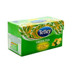 Tetley Green Tea With Ginger, Mint & Lemon Natural Flavours 10 Tea Bags