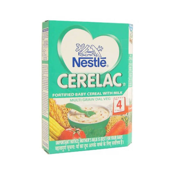 Nestle Cerelac Fortified Baby Cereal With Milk Multigrain Dal Veg Stage 4 300 Gm