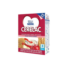 Nestle Cerelac Fortified Baby Cereal With Milk Wheat Apple Cherry(Stage 2) Iron Fortified