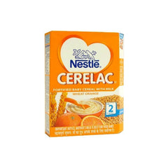 Nestle Cerelac Wheat Orange Fortified Baby Cereal with Milk Stage 2