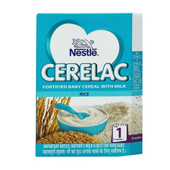 Nestle Cerelac Fortified Baby Cereal With Milk Rice 6 Month+ Stage 1
