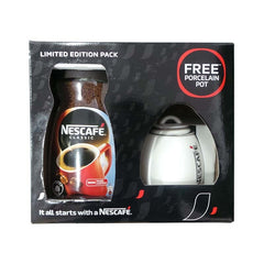 Nescafe Classic Coffee Jar With Free Porcelain Pot